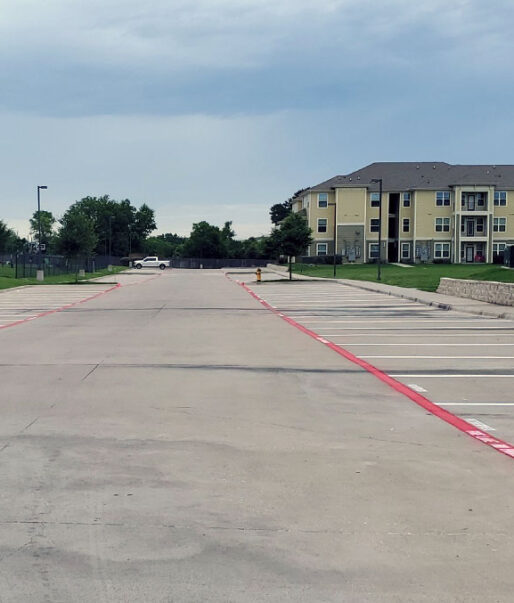Apartment parking lot paving in San Antonio